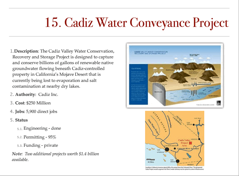Cadiz water project